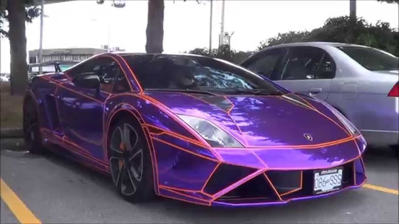 Purple Chrome Tron Lamborghini Gallardo Lp560 4 Loud Sounds Youtube