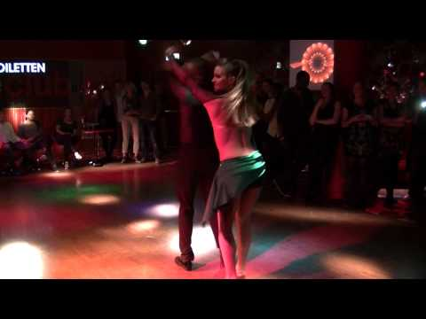 Salsa in Holland - Latin night in the club - Show Rayonnel & Annika - 17.05.2013