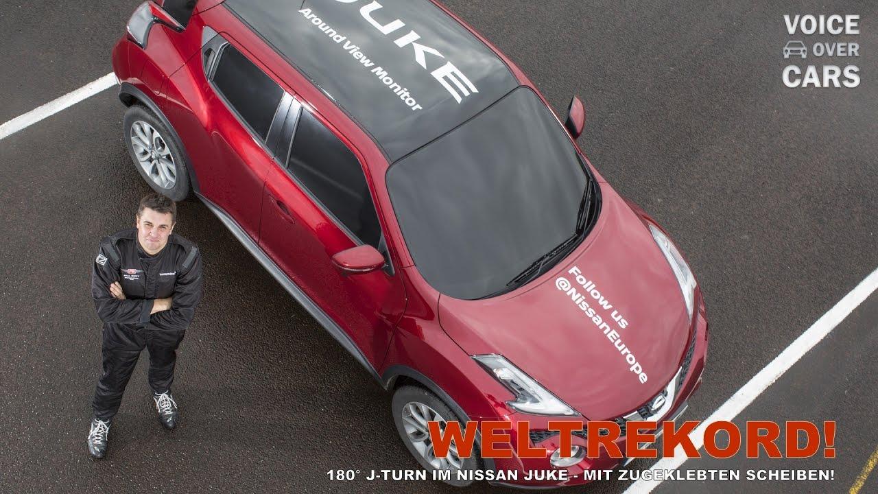 180° J-TURN im Nissan Juke - Weltrekord 2016! Voice over Cars News ...