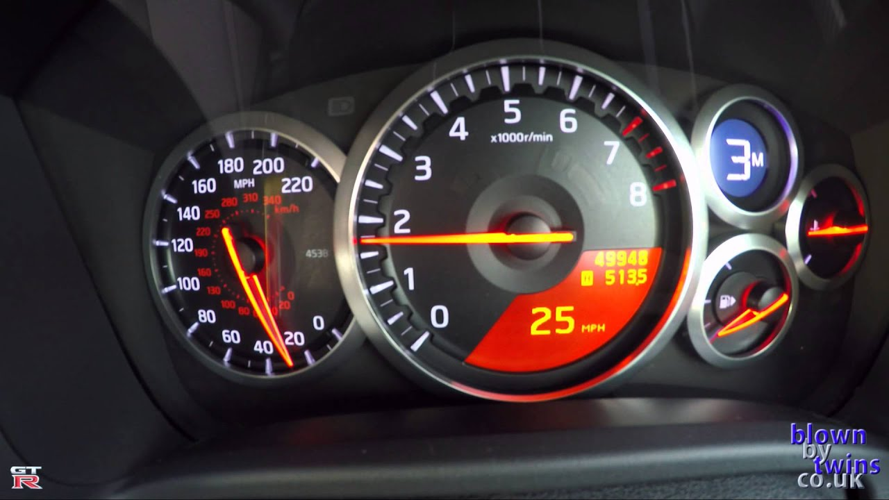 Nissan GTR R35 Litchfield Stage 4.25 Speedo Test - YouTube