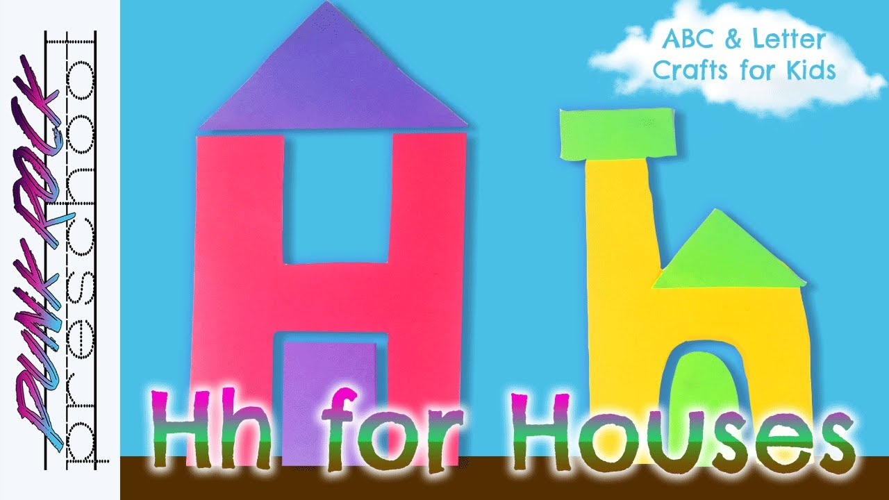 letter h for houses fun preschool crafts for kids best preschool activities for kids youtube. Black Bedroom Furniture Sets. Home Design Ideas