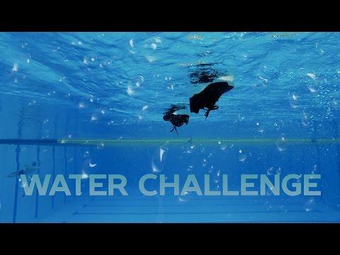 Эксперимент слетят ли кроссовки Puma Prevail при прыжке в воду