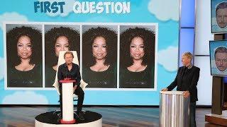 Ellen Tests David Spade's Talk Show Host Skills in 'First Question'