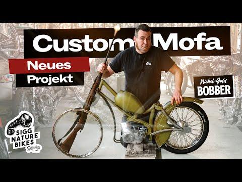 NICKEL GOLD Custom Mofa Bobber   Projektvorstellung