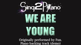 We Are Young - FUN. (Piano backing) cover