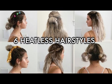 6 EASY HEATLESS HAIRSTYLES FOR BACK TO SCHOOL 2019 thumbnail
