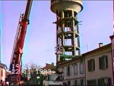 démontage du chateau d'eau de lescure d'albigeois novembre 1993