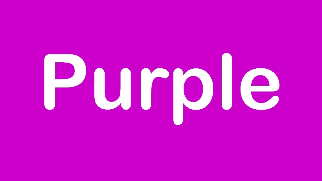 Learn Basic Colours Purple