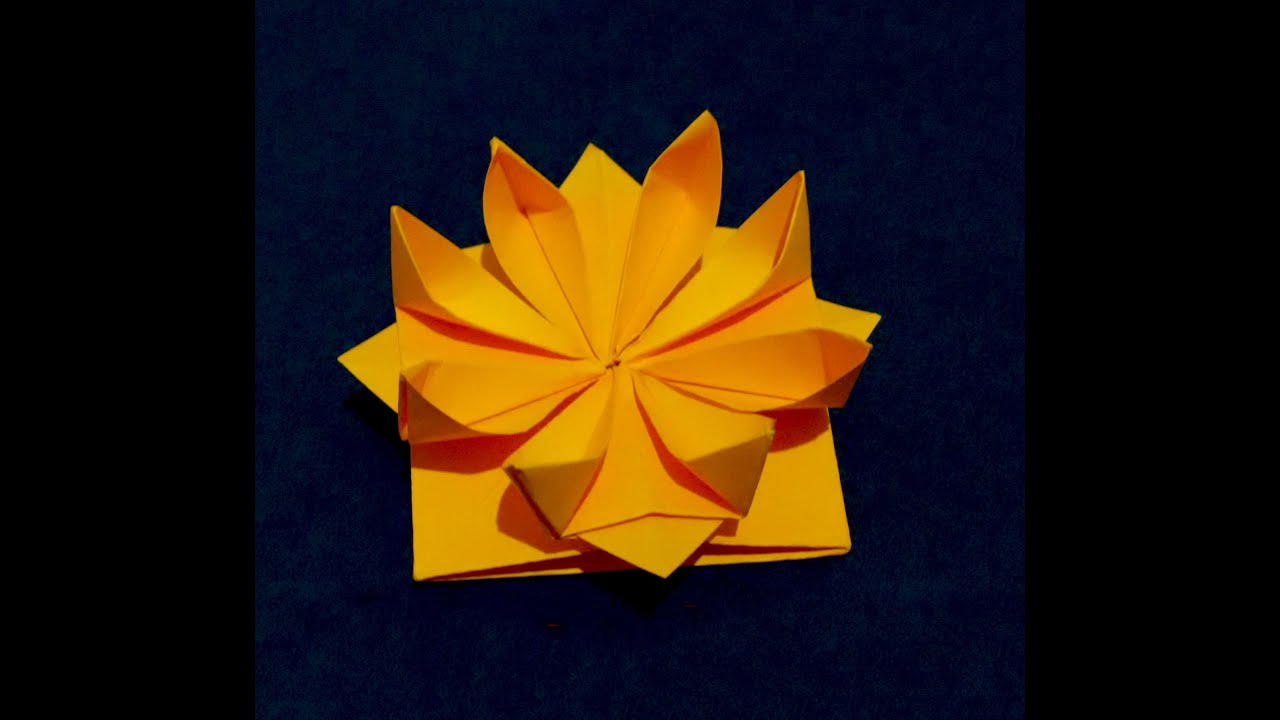 Easy Origami Flower 3d Paper Flower Great Decor For Gift Box
