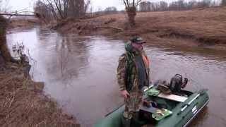 Охота на лодках. Сплав по реке Кесьма 41км.