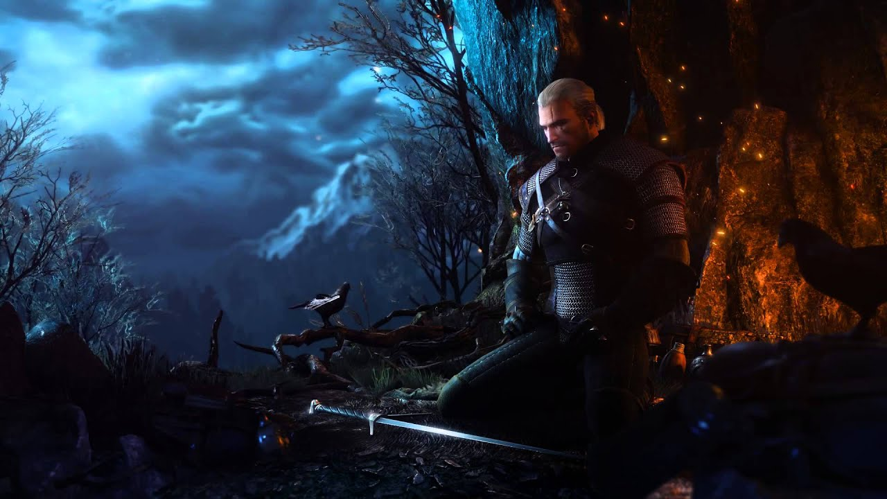 Skyrim Animated Wallpaper Witcher 3 Wild Hunt Menu Backgrund Dreamscene Youtube