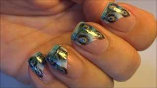 Born Pretty Store Fancy Colorful Feather French Edge Nail Water Decals
