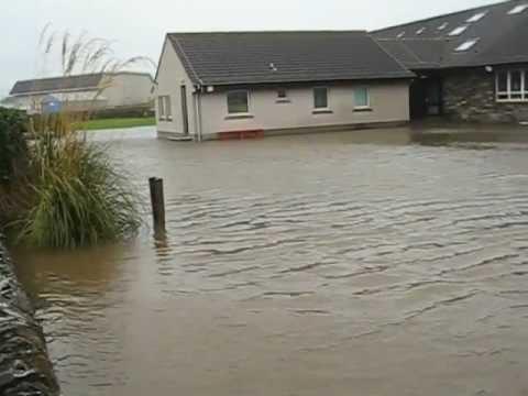 Flooding at Glaitness School, Kirkwall, Orkney