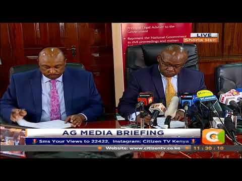 Raila Odinga swearing-in is high treason - AG Githu Muigai