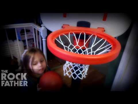 Playing Ball In The House (Step2 Shootin' Hoops Pro Basketball Set)