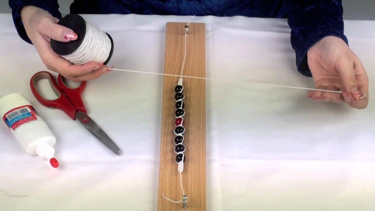 Как сделать самой браслет с бус