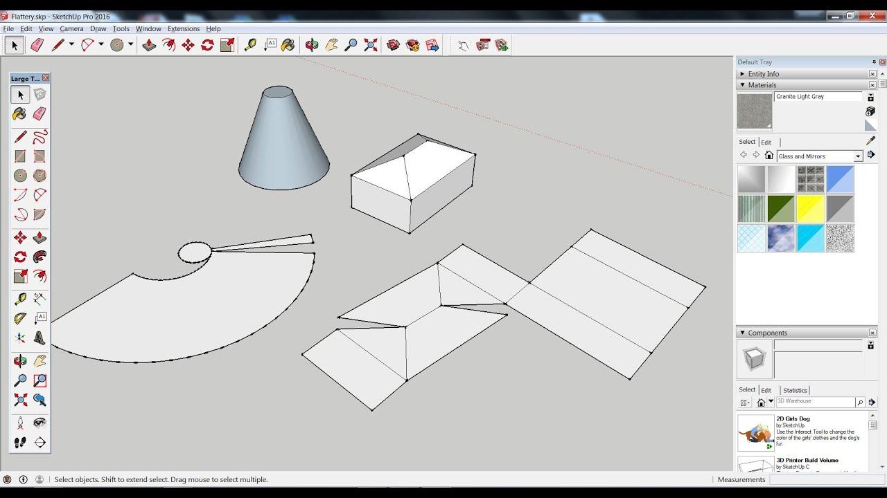 Como planificar um modelo 3D no SketchUp para fazer uma maqueta em  #8E3733 1919 1034