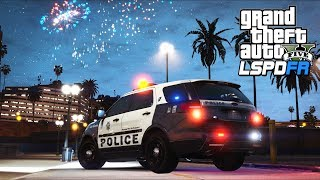 GTA 5 - LSPDFR Ep588 - 4th of July Fireworks!!