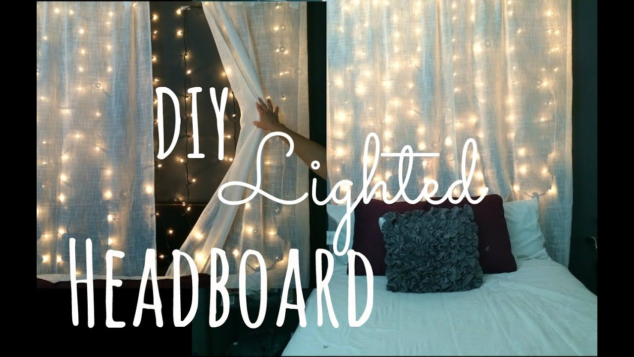 diy lighted headboard!! lilmissmegsmakeup - youtube