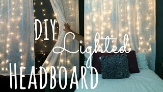 Diy Lighted Headboard!! Lilmissmegsmakeup
