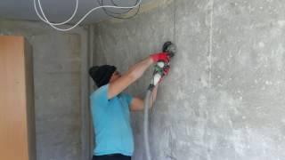 Штроборез из болгарки своими руками. Режет бетон вообще без пыли!!!!