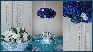 DIY Fire and Ice Candelabra