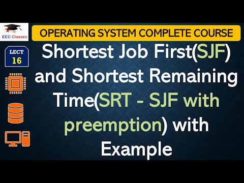 Shortest Job First(SJF) | Shortest Remaining Time(SRT) Algorithm with Solved Example