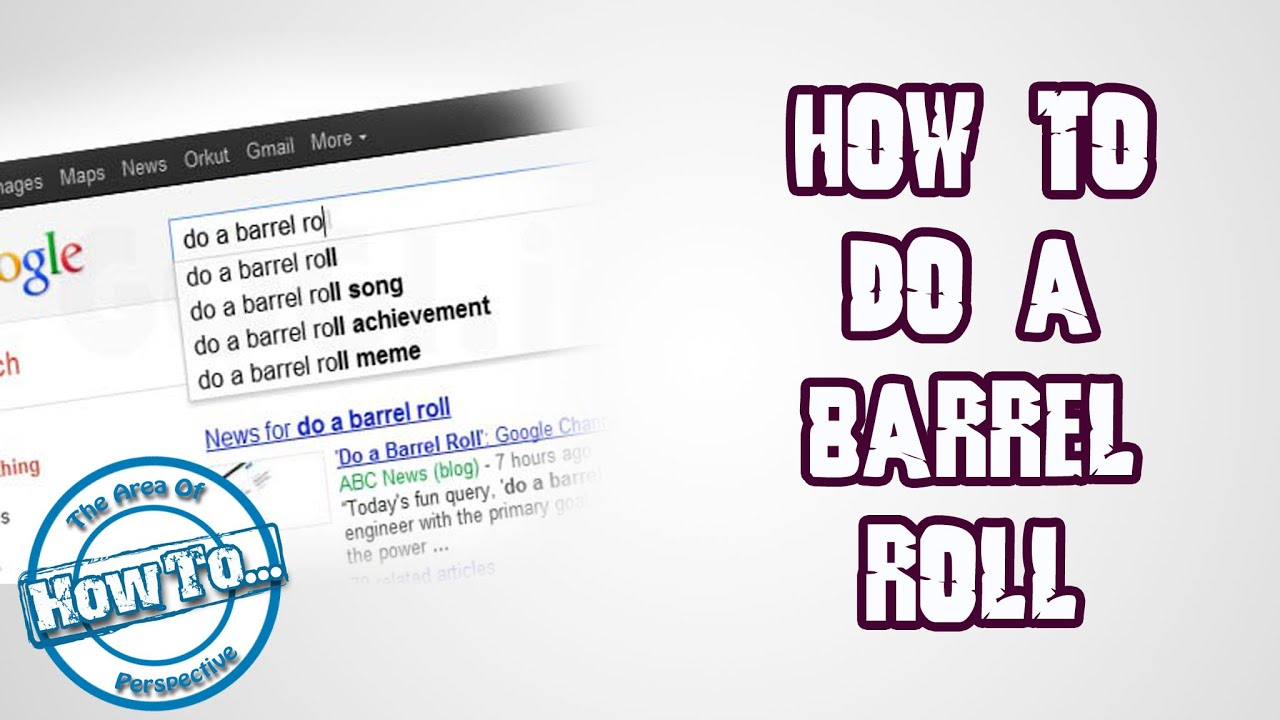 Do A Barrel Roll Google Tricks How To Do A Barrel Roll Google Tricks Youtube