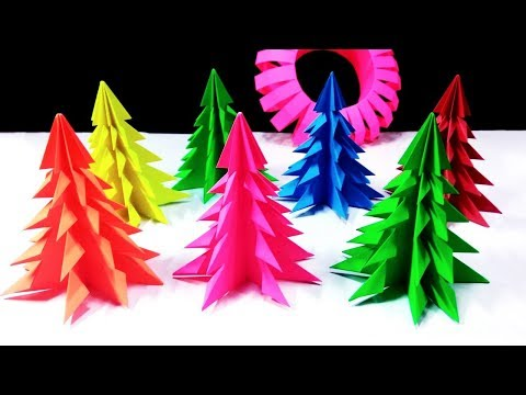 3D Paper Christmas Tree   How to Make a 3D Paper Xmas Tree at Home    DIY Tutorial
