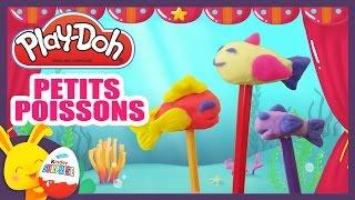 Les petits poissons dans l'eau - Comptine en pâte à modeler Play-Doh