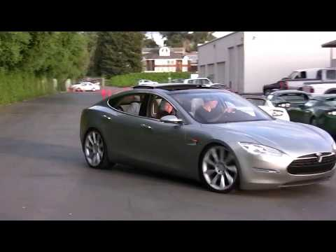 First Tesla Model S Prototype Unveiling in April 2009