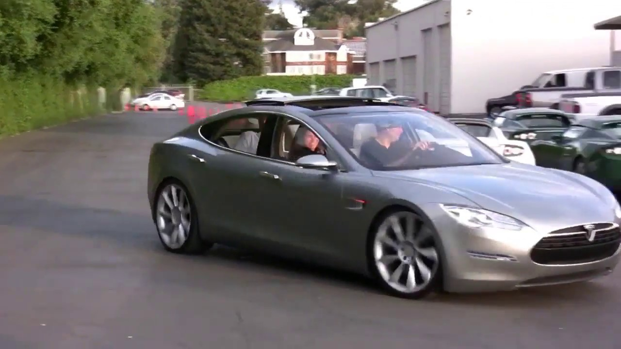First Tesla Model S Prototype Unveiling In April 2009 Youtube