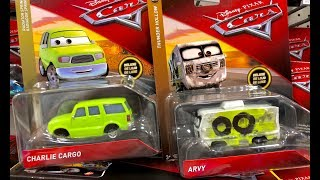 New Disney Cars 3 Toys Hunt - Charlie Cargo & Arvy Deluxe Case Family Toy Review Jollibee Adventure