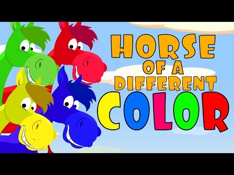 Color Songs: Horse of a Different Color After School Cubs  Preschool Color Song