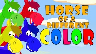 Color Songs: Horse of a Different Color (After School Cubs) - Preschool Color Song