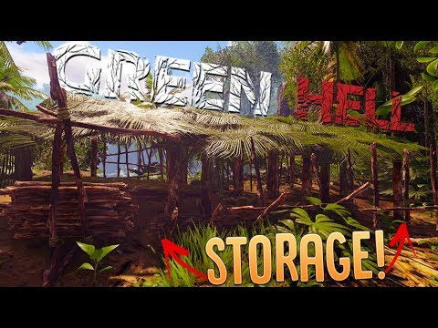 Green Hell - Tribal Warrior Beat-down - Shelter Storage Upgrades - Green Hell Gameplay