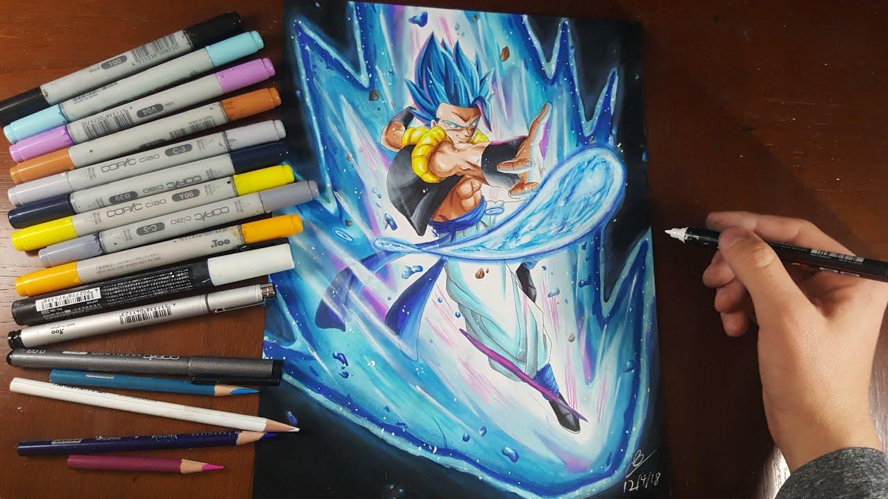 Drawing Gogeta Blue Dragon Ball Super Broly