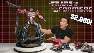 I GOT A $2,000 TRANSFORMER FOR CHRISTMAS!!! XM Studios Optimus Prime!