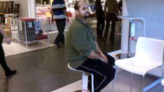 Barstool Fun At Ikea With Ed.