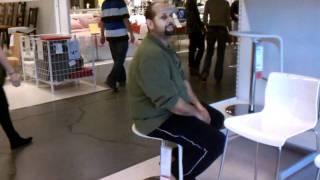 Barstool Fun At Ikea With Ed.