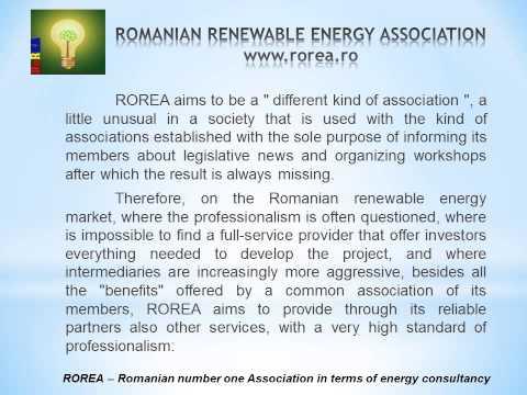 ROMANIAN RENEWABLE ENERGY ASSOCIATION