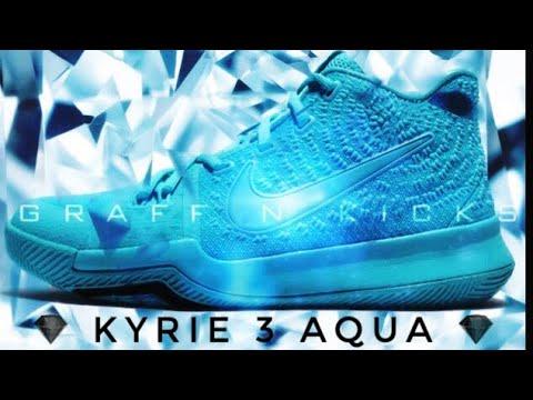 cae4199e89ce Kyrie 3 Aqua unboxing review - YouTube