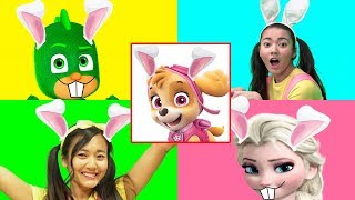 GIANT SMASH Easter Game with Paw Patrol Skye and PJ Masks Gekko