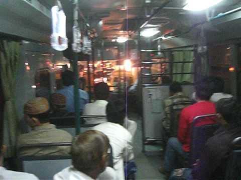 La at Night - Daewoo Bus Inside 15 Nov 2008 Pakistan - YouTube