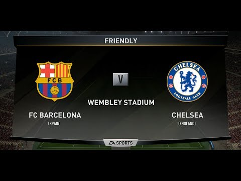 FIFA 18 FC BARCELONA VS CHELSEA XBOX ONE PS4 PC FULL MATCH GAMEPLAY IN HD