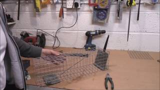 EASY D.I.Y. HOMEMADE  LOCKING CAGE TRAP FOR MINK, RATS ETC.