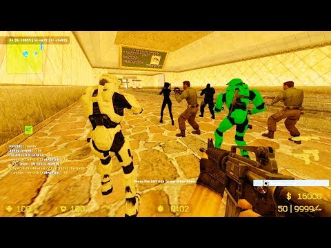 Counter Strike Source - Zombie Escape Mod Online Gameplay On Sit Caelum Paradisus Map