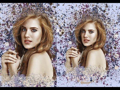 Портрет девушки в стиле Dream Art/Дрим Арт в Photoshop (Speed Art/Спид-арт) обработка фотографии