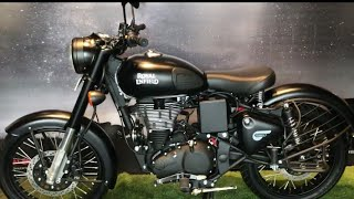 Royal Enfield Classic 350 New colours with Rear disc Gunmeral Grey and Stealth Black Walkaround