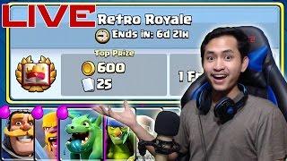 RETRO ROYALE CHALLENGE YUKS!! - Clash Royale Indonesia LIVE thumbnail